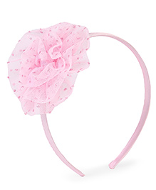 Stol'n Hair Band Flower Motif - Pink