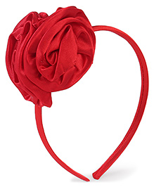 Stol'n Hair Band Floral Applique - Red