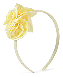 Stol'n Hair Band Floral Applique - Light Yellow