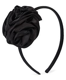 Stol'n Hair Band Floral Applique - Black