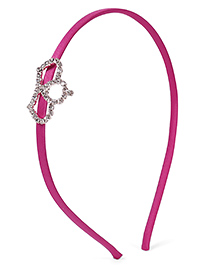 Stol'n Hair Band Studded Crown Applique - Pink