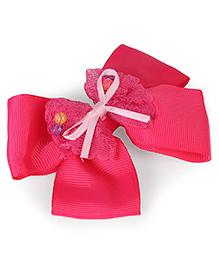 Stol'n Bead Bow Hair Clip - Pink