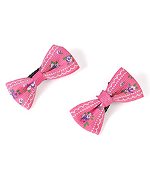 Stol'n Printed Alligator Hair Clip Pack Of 2   (Colour May Vary)