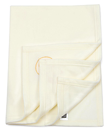 Mee Mee Baby Blanket With Duck Patch - Cream