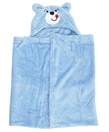 Mee Mee Baby Blanket With Hood  - Blue
