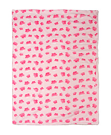 Mee Mee Double Layered Blanket With 3D Floral Print - Light Pink