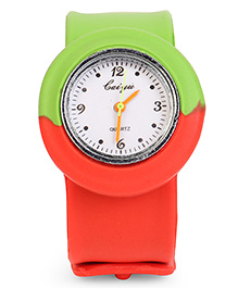 Dual Color Analog Wrist Watch - Green Red