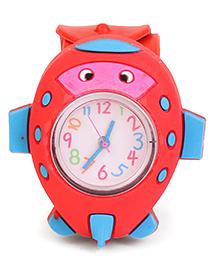 Analog Wrist Watch Fish Shape Dial - Red - 1684589