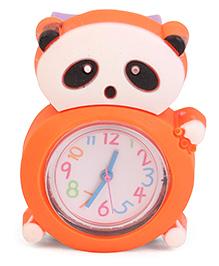 Analog Wrist Watch Panda Shape Dial - Purple Orange