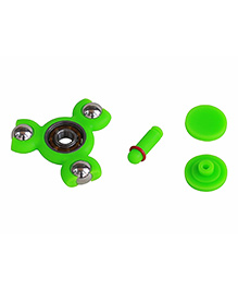 Emob 3 In 1 Pencil Gyro Mini Fidget Hand Spinner With Extra Steel Ball - Green