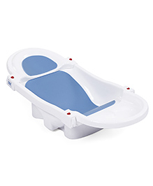 Mee Mee's Foldable And Spacious Baby Bath Tub - White Blue