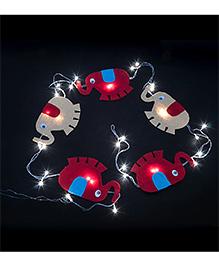Li'll Pumpkins Elephant Design Handcrafted Led Lights - Multicolour