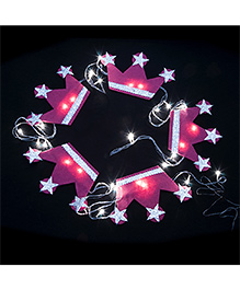 Li'll Pumpkins Crown Design Handcrafted Led Lights - Pink