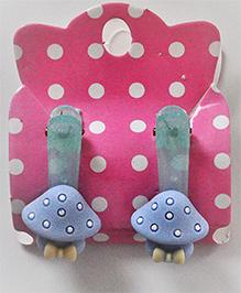 Bobbles & Scallops Toadstool Alligator Clip - Light Blue