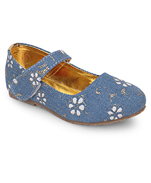 Spring Bunny Floral Shoes - Blue