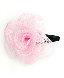 Magic Needles Tic Tac Hair Clip With Net Rose - Baby Pink