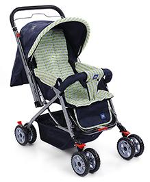Mee Mee Baby Stroller Cum Pram With Canopy - Navy Blue