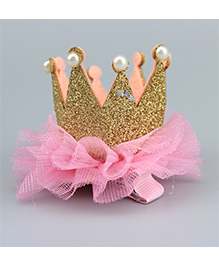 Angel Closet Princess Crown Design Hair Clip - Pink - 1693530