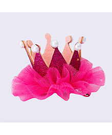 Angel Closet Princess Crown Design Hair Clip - Pink