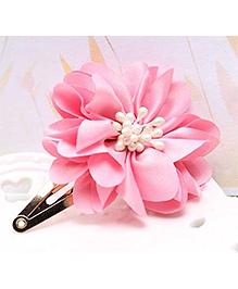Angel Closet Attractive Flower Hair Clip - Light Pink