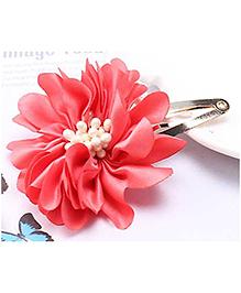 Angel Closet Attractive Flower Hair Clip - Red
