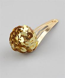 Angel Closet Sequinned Ball Hair Clip - Golden