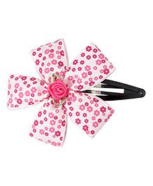 Keira'S Pretties Floral Printed Tic Tak Hair Clip - Pink