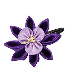 Keira'S Pretties Floral Design Tick Tak Hair Clip - Purple