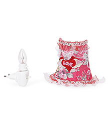 Mini Night Lamp Love Print - Pink