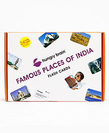 Hungry Brain Famous Places Of India Flash Cards Pack Of 10 - Multi Colour