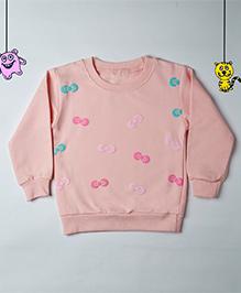 Mr Doodlekar Cute Bow Printed Sweatshirt - Pink