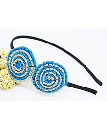 Little Tresses Partywear Double Puff Flower Hair Band - Blue
