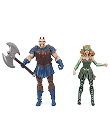 Marvel Legends Series The Mighty Thor Executioner & Enchantress Action Figure Set Of 2 Blue Green - 21 Cm