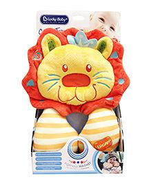 Babies Bloom Travel Pillow Lion Shaped - Orange