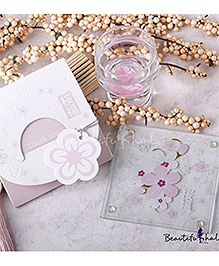 Babies Bloom Cherry Blossom Glass Coaster Set Of 2 - Pink