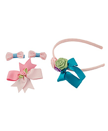 Babies Bloom Hair Accessory Set Of 4 - Pink