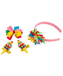 Babies Bloom Hair Accessory Set Pack Of 4 - Multi Color