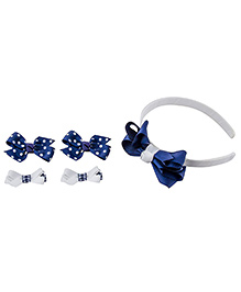 Babies Bloom Hair Accessory Set Pack Of 5 - Blue White