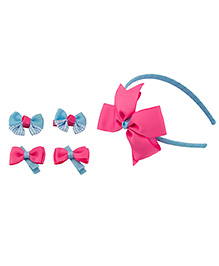 Babies Bloom Hair Accessory Set Pack Of 5 - Blue Pink
