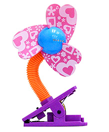 Babies Bloom Clip On Cooling Fan For Babies - Pink Purple