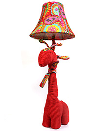 Baby Oodles Fabric Table Lamp Colourful Giraffe - Multicolour