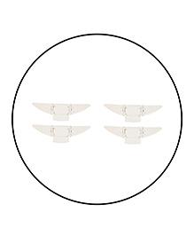 Safe-O-Kid Butterfly Shaped Sliding Window Lock White - Set Of 4