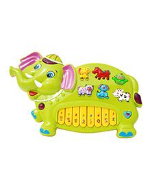 Toyhouse Elephant Electronic Musical Piano - Green
