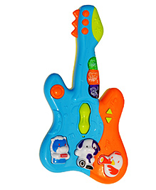 Toyhouse Small Guitar With Music And Light - Blue & Orange