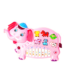 Toyhouse Elephant Electronic Music Organ Set With 3 Lights - Pink
