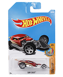 Hot Wheels Surfs Up Toy Car - Red (Colour Or Design May Vary)