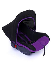 Rear Facing Car Seat Cum Carry Cot - Purple And Black