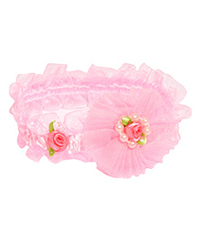 Miss Diva Beautiful Beaded Rose Soft Headband - Pink