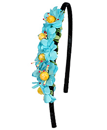 Miss Diva Leafy Flower Hair Band - Turquoise