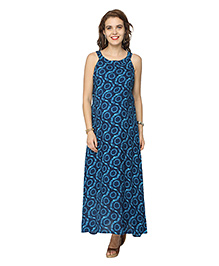 Morph Maternity Blue  Maternity Maxi Dress Blue L